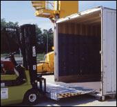 Rampa incarcare containere